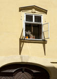 Prague - Baroque window Stock Photo