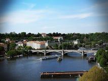 Prague. Beautiful view of Prague. Prague by the river Royalty Free Stock Photos