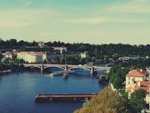 Prague. Beautiful view of Prague. Prague by the river Stock Photo