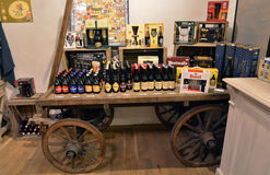 Prague beer shop Stock Photo