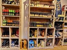 Prague beer shop Stock Photography