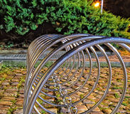 Prague Bicycle rests Stock Photo