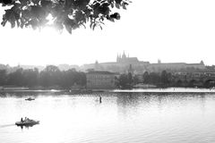 Prague black and white Royalty Free Stock Images