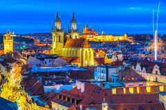 Tyn Church and Old Town Square, Prague, Czech Republic, Prague, Czech Republic royalty free stock photography