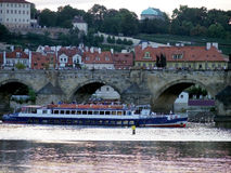 Prague boat Royalty Free Stock Photo
