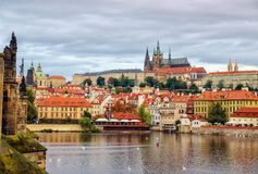 Prague, Bohemia, Czech Republic. Hradcany is the Praha Castle with churches, chapels, halls and towers from every period of its. History. Morning stock photos