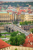 Prague. Bridge. High view Stock Photos