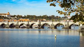 Prague Bridge. Architecture and landmark of Prague Stock Photo