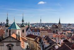 Prague, bridge tower at Charles Bridge Stock Image