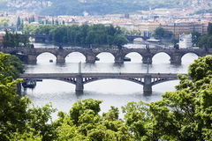 Prague bridges Royalty Free Stock Image