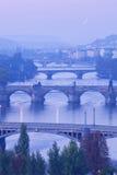 Prague bridges Stock Photography