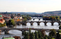 Prague bridges Stock Image