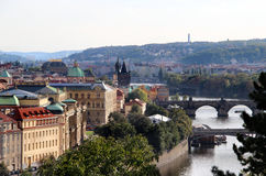 Prague bridges Royalty Free Stock Photos