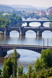 Prague bridges. On Vltava river Royalty Free Stock Images