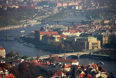 Prague bridges on Vltava Royalty Free Stock Photo