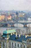 Prague Bridges,Vltava river breathtaking view Stock Images