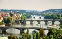 Prague briges Stock Images