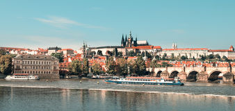 Prague on a bright day, toned image Royalty Free Stock Image