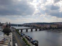 Prague bro Royaltyfri Fotografi