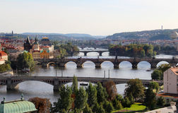 Prague broar Arkivbilder