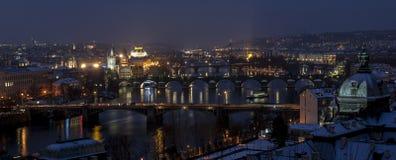 Prague broar Royaltyfri Bild