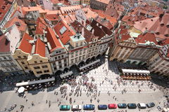 Prague buildings. Picture of prague taken from clock tower Royalty Free Stock Photos