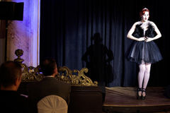 Prague Burlesque performance show Royalty Free Stock Photo