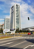 Prague, Business Center, Office, Skyscraper. Prague skyscraper - City Empiria, 104m. Business Center Pankrac,  Prague Czech Republic Royalty Free Stock Image