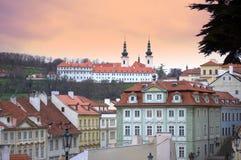 Prague byggnader Fotografering för Bildbyråer