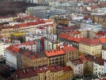 Prague byggnader och tak Royaltyfria Foton