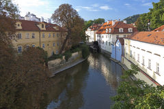 Prague canal Stock Images