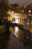 Prague Canal With Water Wheel Stock Photography