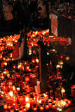 Prague, candle lights for Vaclav Havel Royalty Free Stock Photo