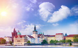 Prague is the capital of the Czech Republic Stock Photo