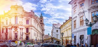 Prague is the capital of the Czech Republic Royalty Free Stock Photo