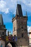 Prague Carles Bridge. Tower of Charles Bridge in Prague, Czech Republic Royalty Free Stock Images