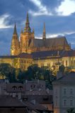 Prague Castle. St Vitus cathedral in Prague castle. HDR photo Royalty Free Stock Photography