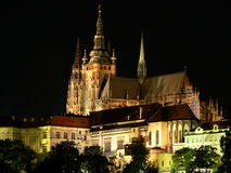 Prague Castle. At night Royalty Free Stock Photos