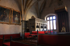 Prague Castle. Old Royal Palace Room Royalty Free Stock Photos