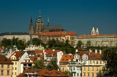 Prague Castle. Viewed from Charles Bridge stock images