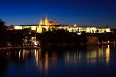 Prague Castle. Castle and the St. Charle's Bridge in downtown Prague, Czech Republic Stock Images