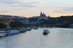 Prague castle. View at Prague castle from the Vltava river Stock Photography