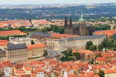 Prague castle. Aerial view of Prague castle Stock Image