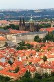 Prague castle. Aerial view of Prague castle Stock Photo