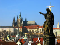 Prague Castle. View from Charles Bridge stock images