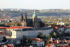 Prague castle from above royalty free stock image