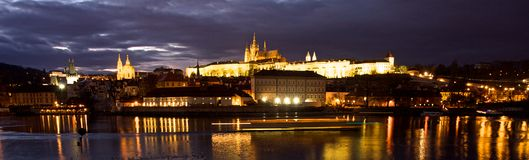 Prague Castle across river Royalty Free Stock Photo