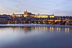 Free Prague Castle At Sunset Stock Images - 18374934