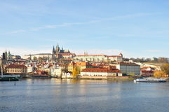 Prague Castle in autumn. Prague is one of the most beautiful city in Europe.The Vltava is the longest river in the Czech Republic Royalty Free Stock Images