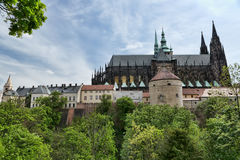 Prague Castle is a castle complex in Prague Stock Photography